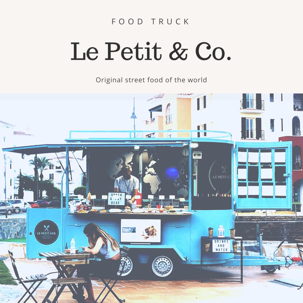 Foto en plaza con filtro de remolque de Le Petit & Co