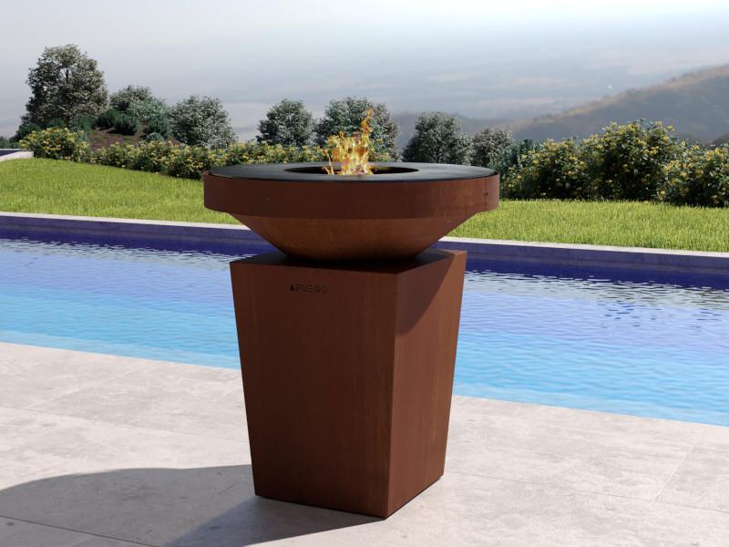 Cocina Afuego360 con piscina de fondo