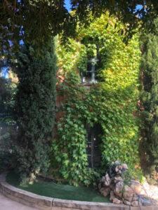 Torre con enredaderas en Única Garden